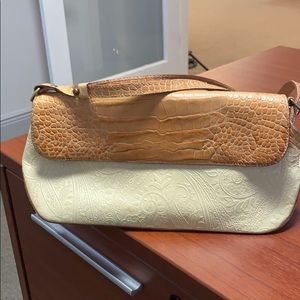 Brahmin purse. Cream and tan.